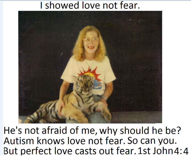 Love not fear flashblog entry.